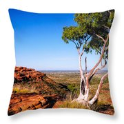 Ghost Gum On Kings Canyon - Northern Territory, Australia Throw Pillow