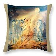 Ghost Herd Throw Pillow