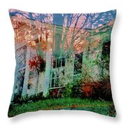 Ghost House Bold Throw Pillow