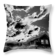 Ghost House Throw Pillow