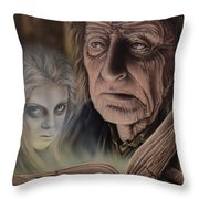 Ghost In The Book Throw Pillow