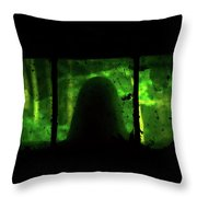 Ghost In The Window No. 2 Throw Pillow