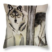 Ghost In The Woods Throw Pillow