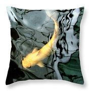 Ghost Koi Carp Fish Throw Pillow