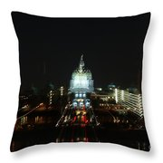Ghost Lights Of Pa State Capital   # Throw Pillow