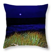Ghost Moon Throw Pillow
