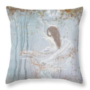 Ghost Of A Rose Throw Pillow