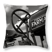 Ghost Of Farmall Past Throw Pillow