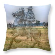 Ghost Of Gettysburg Throw Pillow by Randy Steele