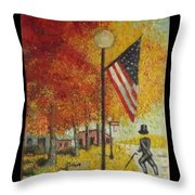 Ghost Of Lincoln Highway Throw Pillow
