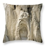 Ghost Of Mammoth Hot Springs Throw Pillow