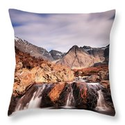 Ghost Of The Fairy Pools Throw Pillow