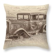 Ghost Of The Mother Road Throw Pillow