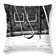 Ghost On A Swing Throw Pillow