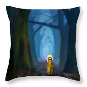 Ghost On The Road 419 Throw Pillow