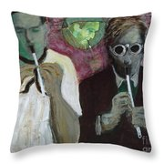 Ghost Piper Throw Pillow