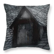 Ghost Rain Throw Pillow