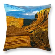 Ghost Ranch At Sunset, Abiquiu, New Throw Pillow