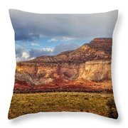 Ghost Ranch Red Throw Pillow