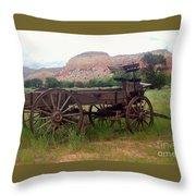 Ghost Ranch Wagon Throw Pillow