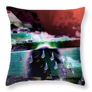 Ghost Regatta Throw Pillow