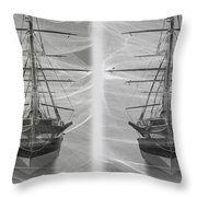 Ghost Ship - Gently Cross Your Eyes And Focus On The Middle Image Throw Pillow