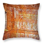 Ghost Sign Throw Pillow