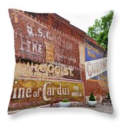 Ghost Signs In Radford Virginia Throw Pillow