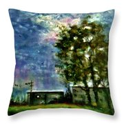 Ghost Town.. Throw Pillow