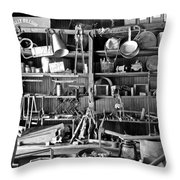Ghost Town Mining Throw Pillow