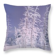 Ghost Trees Yellowstone National Park Throw Pillow