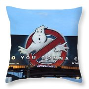 Ghostbusters In La Throw Pillow