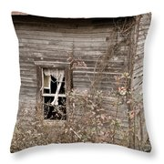 Ghostly Abndoned House Throw Pillow