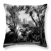 Ghostly Bok Tower Throw Pillow