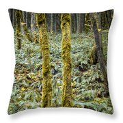 Ghostly Forest Throw Pillow