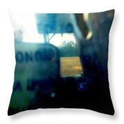 Ghostly Haze Throw Pillow