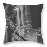 Ghostly Heights Throw Pillow