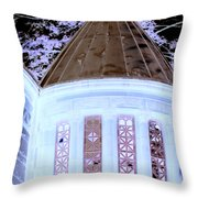 Ghostly Heights Manor Throw Pillow