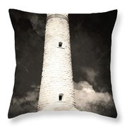 Ghostly Lighthouse Throw Pillow