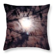 Ghostly Moon Throw Pillow