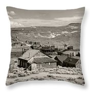 Ghostly Panorama Tobacco Throw Pillow
