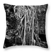 Ghostly Roots - Bw Throw Pillow