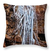 Ghostly Roots Throw Pillow