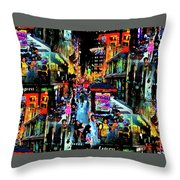 Ghostly Shopping Center Throw Pillow