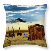 Ghostly Town 2 Throw Pillow