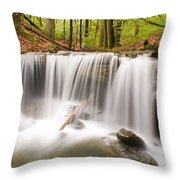 Ghostly Waterfall Throw Pillow