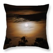 Ghosts Around The Moon Throw Pillow