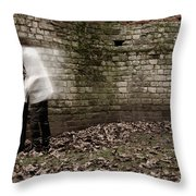 Ghosts In The Crypt Throw Pillow