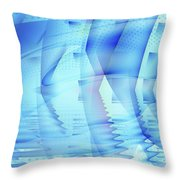 Ghosts In The Pool Throw Pillow