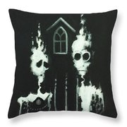 Ghosts Of American Gothic Throw Pillow